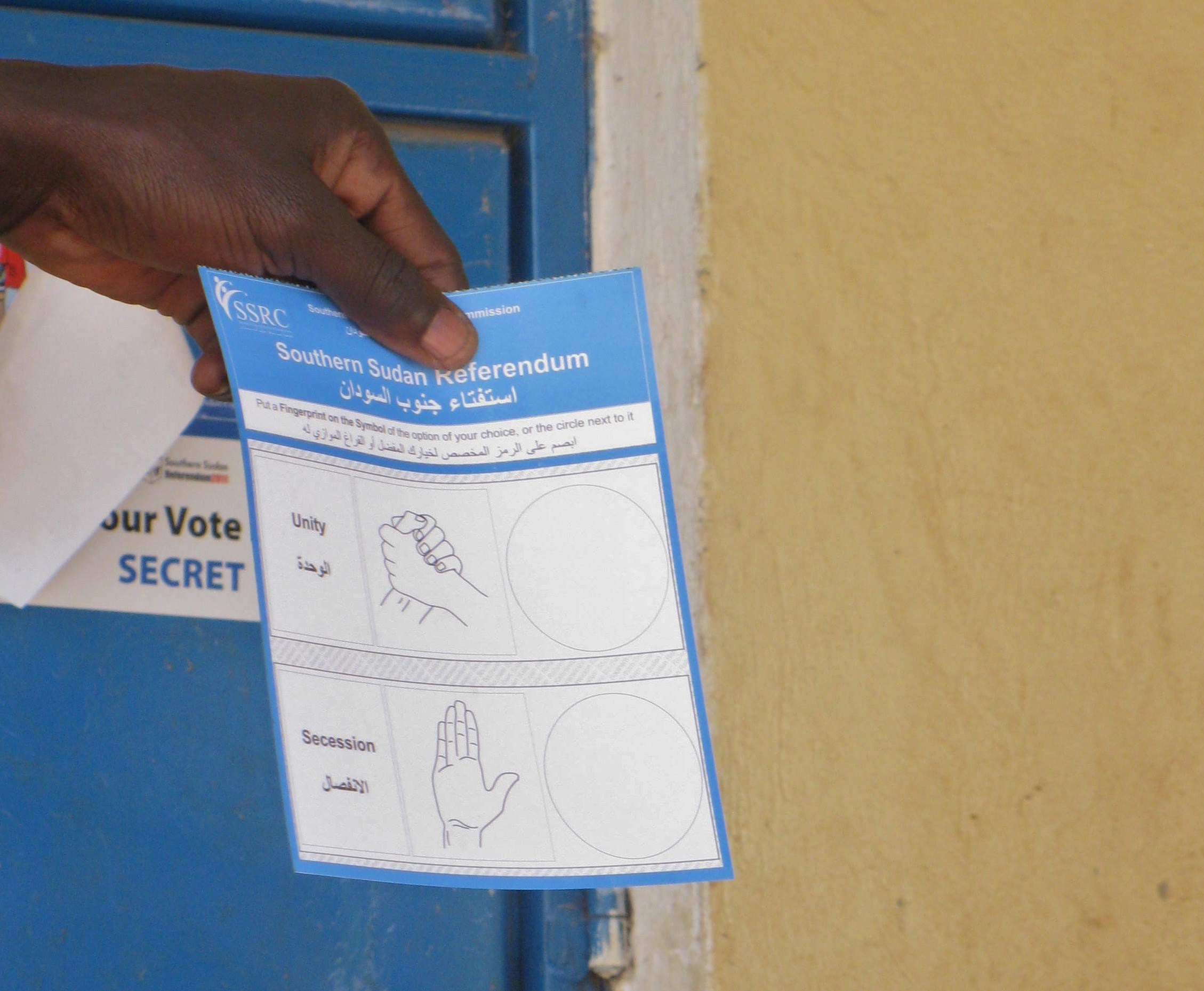 South Sudan Referendum Ballot