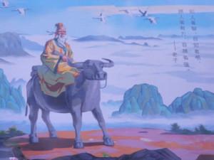 community mural of Lao Tsu