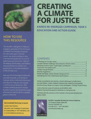 cover - Creating a Climate for Justice