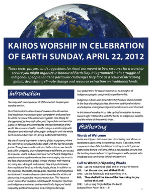 cover - Earth Day Worship
