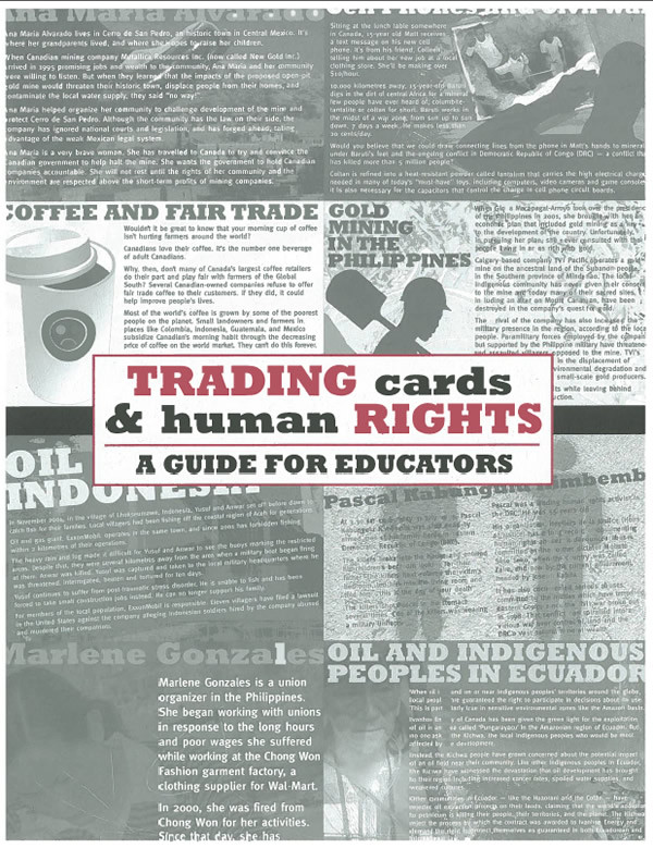 cover - Trading Cards and Human Rights Guide