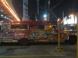 A Manila jeepney in all its splendour.