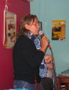 Yolanda est la coordonnatrice nationale de l'Organisation féministe populaire (OFP)