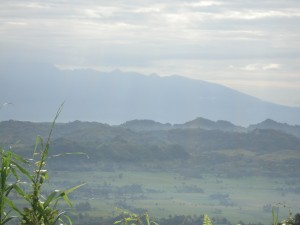 A view of mountains and valleys in Mindanao, the Philippines.