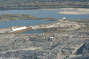 Tar sands site along Athabasca River north of Fort McMurray. Photo: Sara Stratton