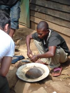 Le coltan en préparation, le Republique démocratique du Congo