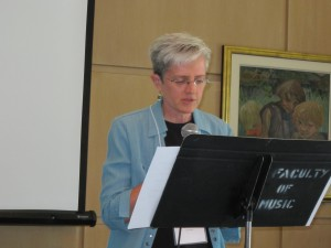 Sr. Sue Wilson offering her reflection at the Circles meeting.