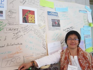 Philippines Indigenous partner Vernie Yocogan Diano and the present meets future section of the timeline.