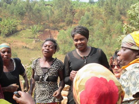 Rev Marie-Claude and women of Rhukole Kuguma