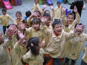Children at the DSPR-run school in Sabra camp, Beirut, Lebanon (Photo: John Lewis)