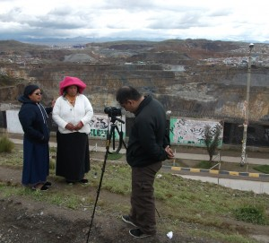 bianca and  giving testimony in cerro de pasco
