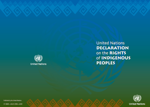 The United Nations Declaration on the Rights of Indigenous