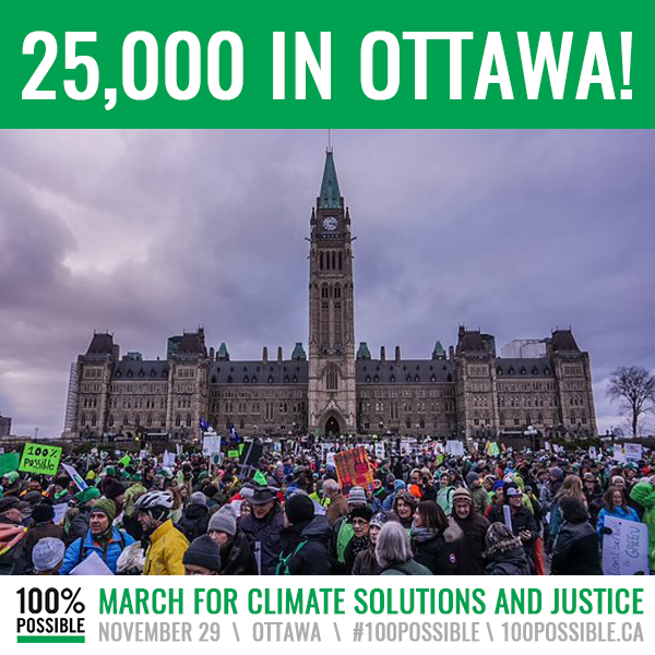 Climate March in Ottawa, November 29, 2015