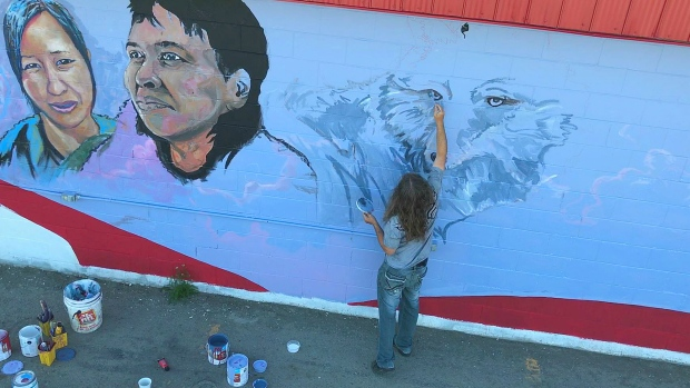 Mural in Whitehorse