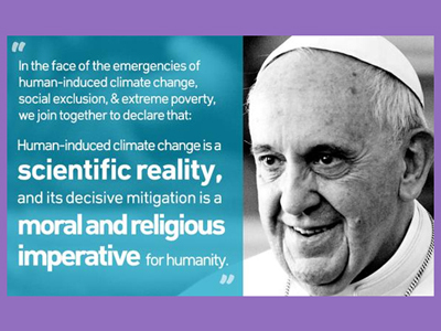 Pope Francis quote on climate change