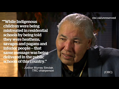 Justice Murray Sinclair, Chairperson Truth and Reconciliation Commission