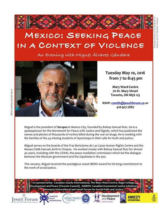 Miguel Is The President Of Serapaz In Mexico City Founded By Bi Samuel Ruiz Among His Many Commitments He Curly Involved Movement For
