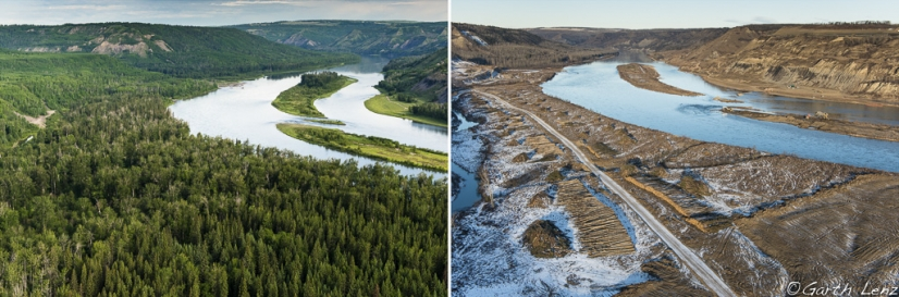 Peace River destroyed for Site C Dam Project