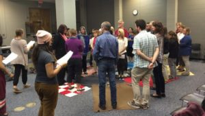 The City of Saskatoon recently hosted a blanket exercise for a group of community leaders. (Submitted by Neal Kewistep)