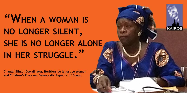 Chantal Bilulu, woman of courage