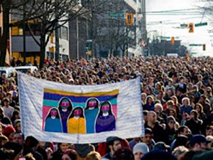 women's memorial march for MMIWG in 2016