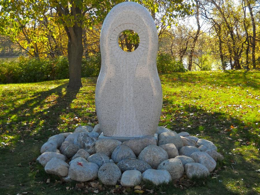 Monument to MMIWG at The Forks
