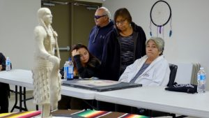 Sagkeeng First Nation statue for MMIWG
