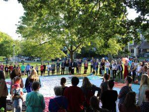 The KAIROS Kitchi Blanket Exercise on Sept. 13, 2017 at East Lynn Park. Photo by Josh Sherman