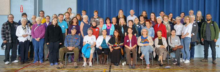 Participants with Grandmother Dorene Bernard at the Halifax workshop on October 14