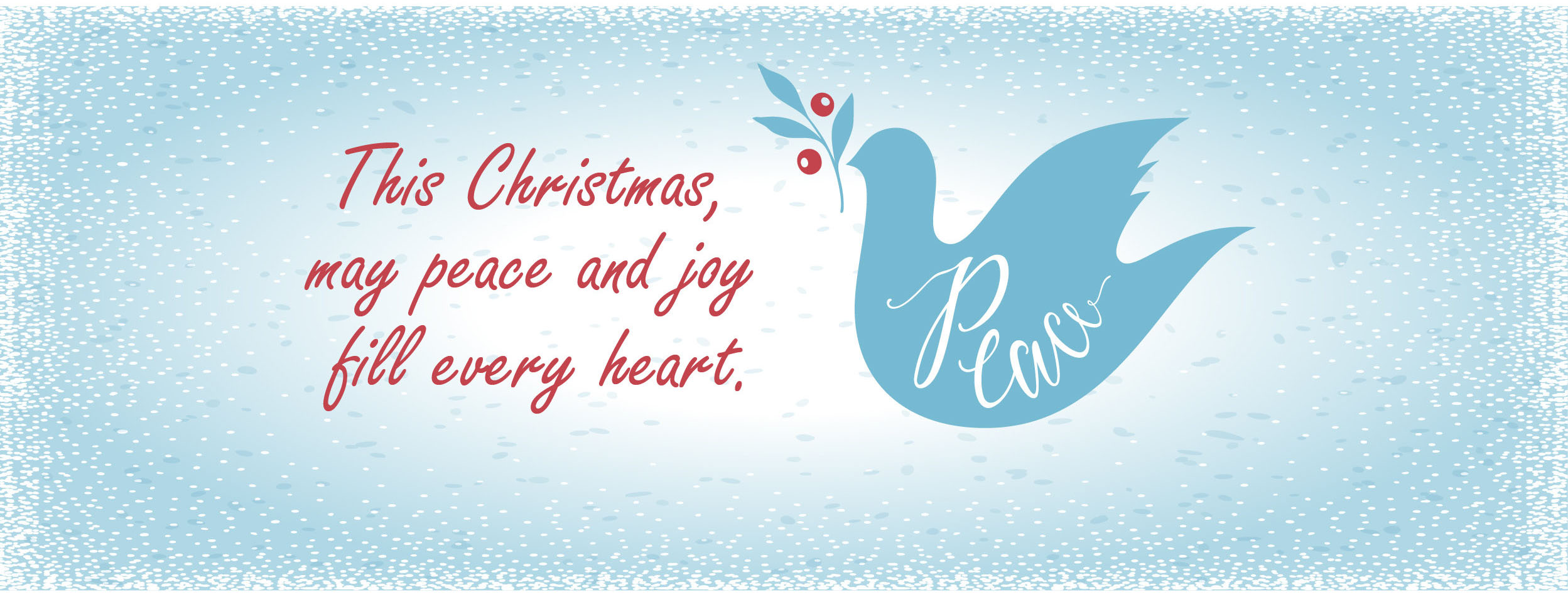 Dove - peace christmas message