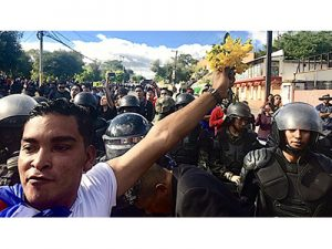 Protesters in Honduras