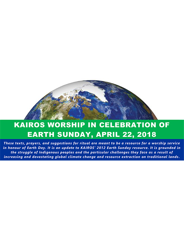 Earth Day Worship Resource 2018 cover