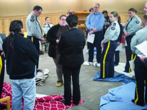 Instructors at the RCMP Academy in Regina, Sask., are trained on how to do the blanket exercise.