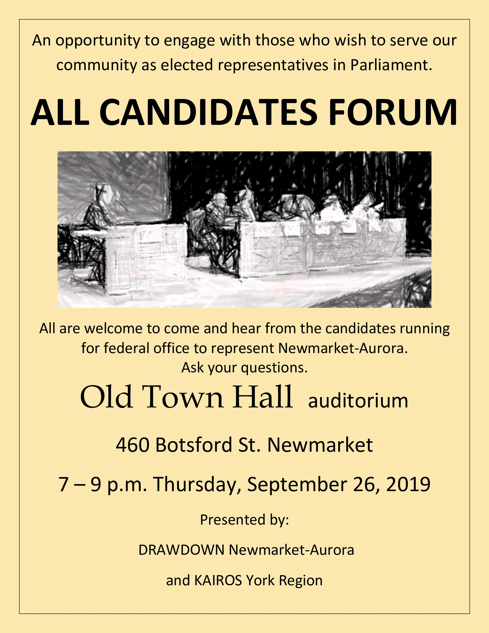 Poster for All candidates federal election forum