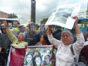 Anti-mining protest in Equador