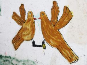 Mural of doves