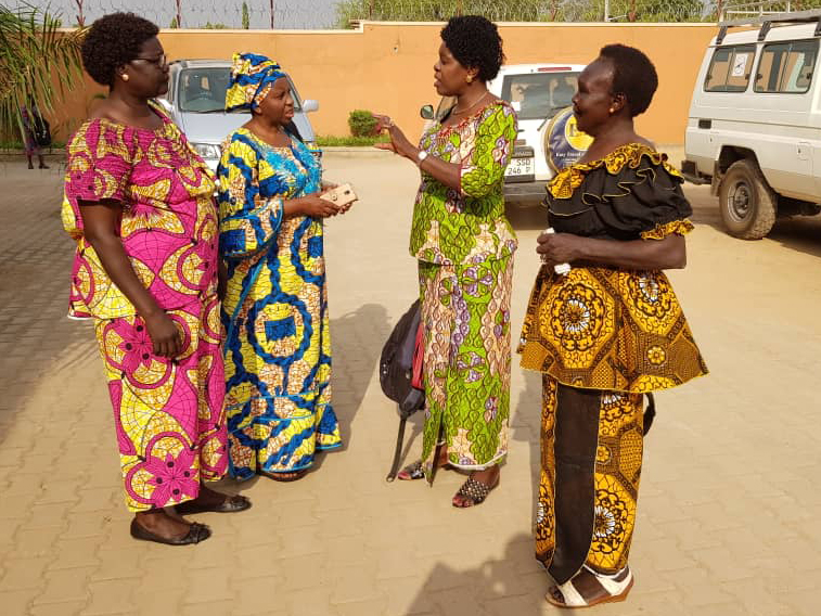 Members of Héritiers de la Justice, DR Congo, invited by the South Sudan Council of Churches, meet up in Juba, South Sudan to celebrate International Women's Day and World Women's Day of Prayer.
