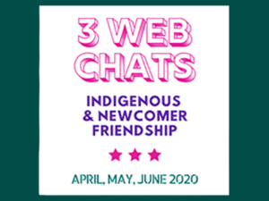 indigenous and newcomer friendship web chats icon