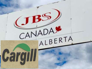 JBS and Cargill meat-packing plants logos