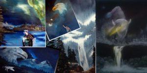 Paintings by Conor Sarazin - Kiniw Studio