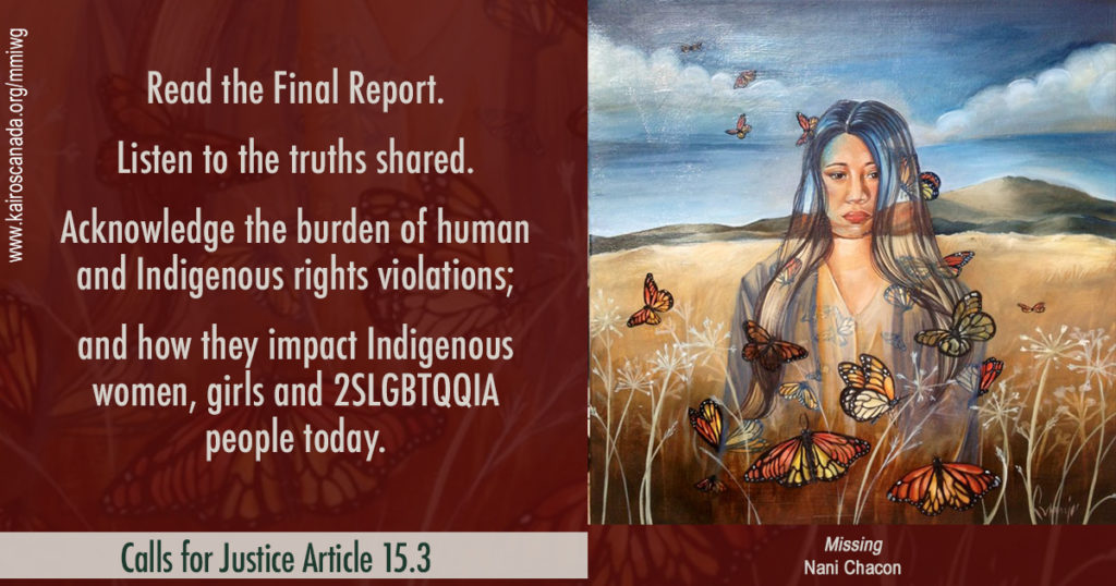 Calls for Justice Article 15.3
