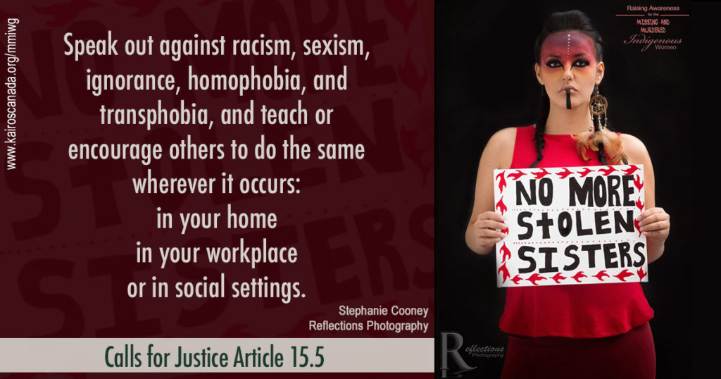Calls for Justice Article 15.5