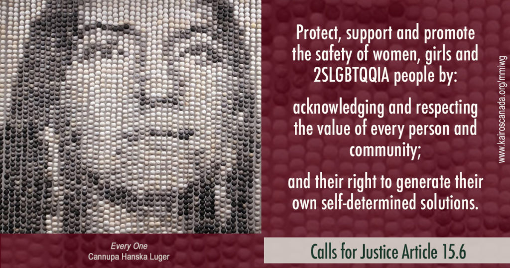 Calls for Justice Article 15.6