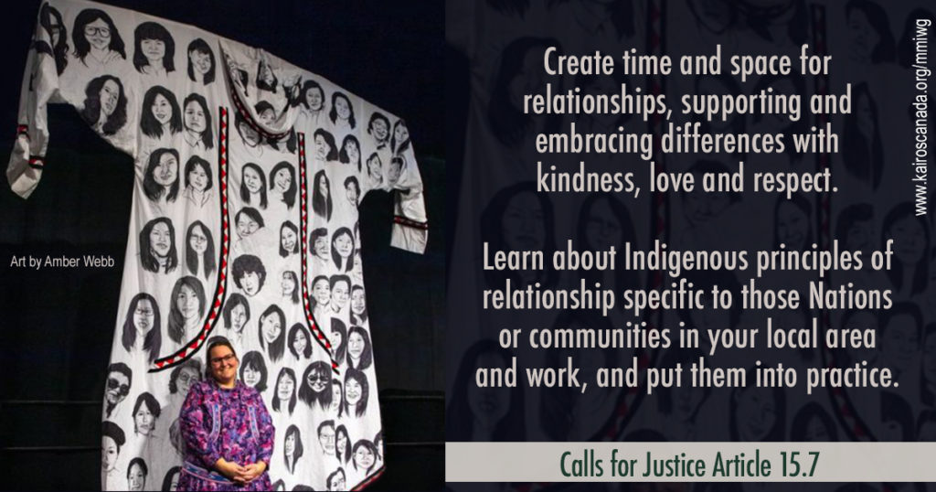 Calls for Justice Article 15.7