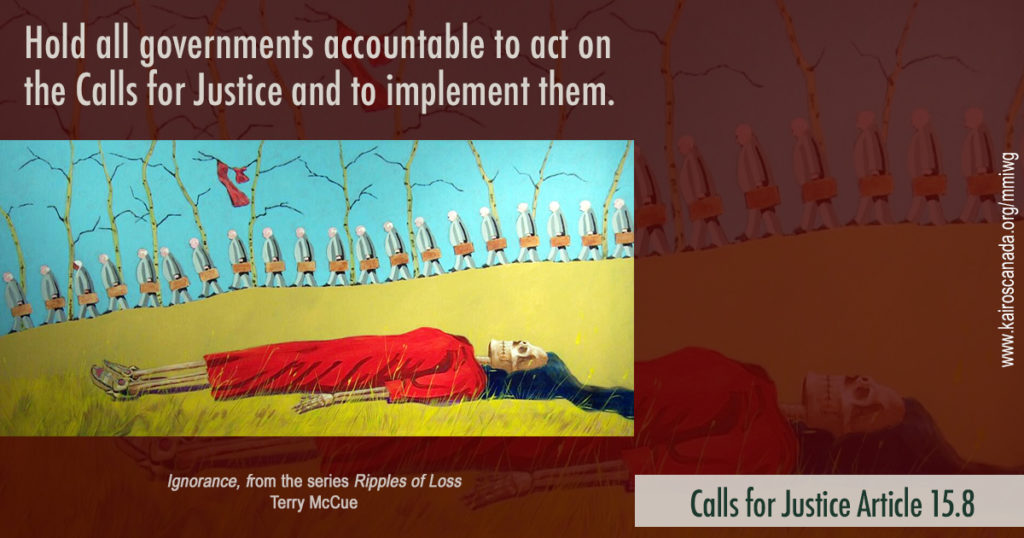 Calls for Justice Article 15.8