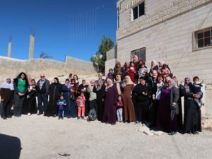 delegation and women's groups in Thabra