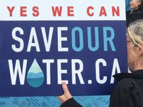Save our water rally in 2018