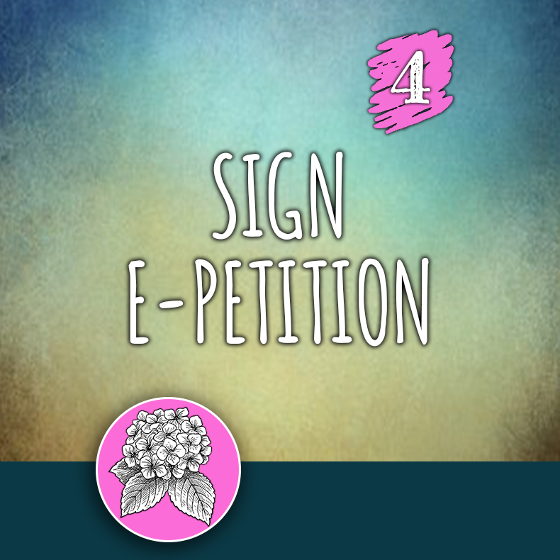 ACTION 4: Sign e-petition