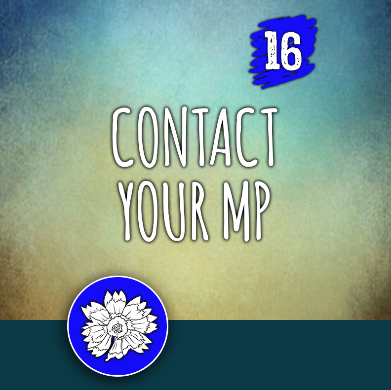 ACTION 16: Contact your MP