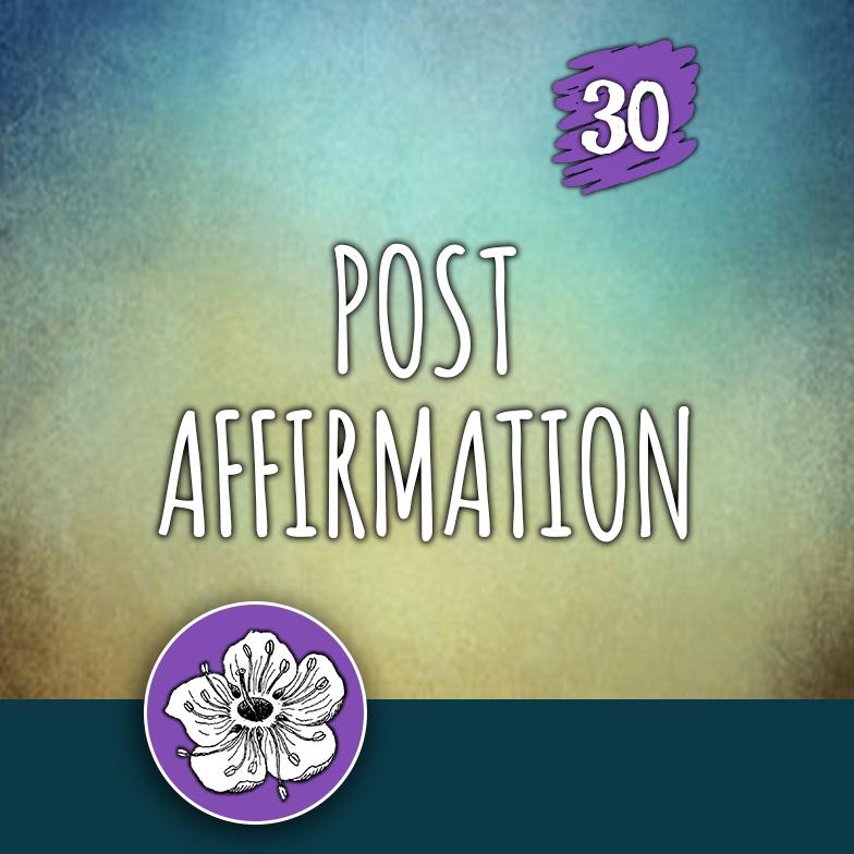 ACTION 30: Post affirmation